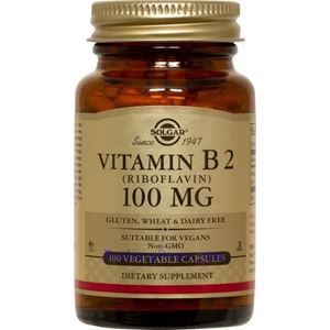 Picture of Solgar Vitamin B2 (Riboflavin) 100 mg  100 Vegetable Capsules