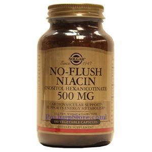 Picture of Solgar No-Flush Niacin (B3 Inositol Hexanicotinate) 500 mg 100 Veg Capsules