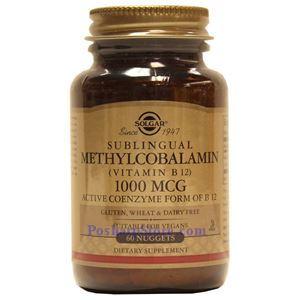 图片 Solgar牌甲基钴胺素(维生素B12)腚 1000微克 60粒