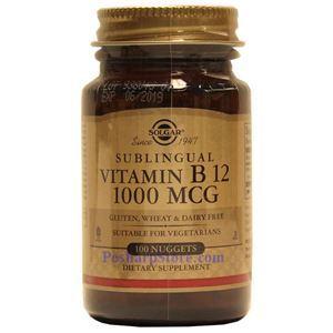 Picture of Solgar Vitamin B12 1000 mcg 100 Nuggets