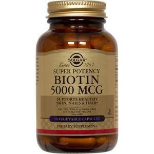 Picture of Solgar Biotin 5000 mcg 50 Vegetable Capsules