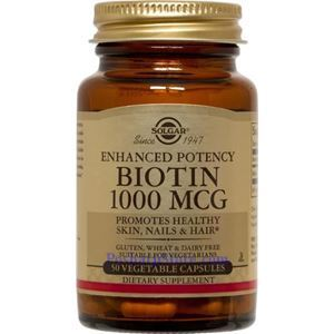 Picture of Solgar Biotin 1000 mcg 50 Vegetable Capsules