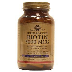 Picture of Solgar Biotin 5000 mcg 100 Vegetable Capsules