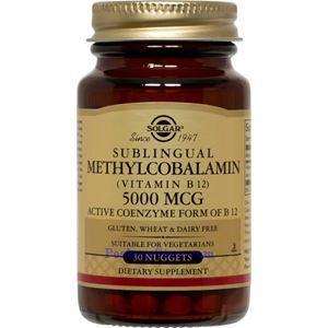 图片 Solgar牌甲基钴胺素(维生素B12)素胶囊 5000微克 30粒