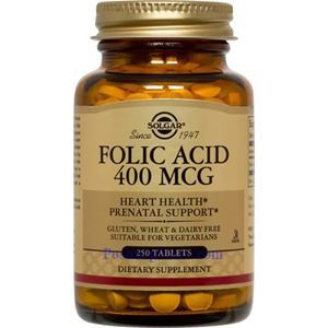 Picture of Solgar Folic Acid 400 mcg 250 Tablets