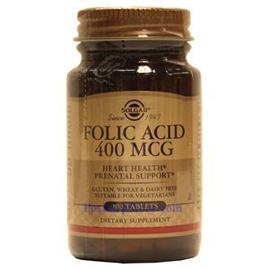 Picture of Solgar Folic Acid 400 mcg 100 Tablets