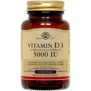 Picture of Solgar Vitamin D3 (Cholecalciferol) 5000 IU 100 Softgels