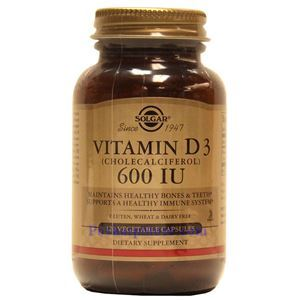 Picture of Solgar Vitamin D3 (Cholecalciferol) 600 IU 120 Vegetable Capsules