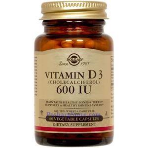 Picture of Solgar Vitamin D3 (Cholecalciferol) 600 IU 60 Vegetable Capsules