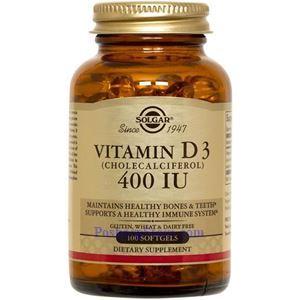 Picture of Solgar Vitamin D3 (Cholecalciferol) 400 IU 100 Softgels
