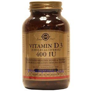 图片 Solgar牌维生素D3(胆钙化醇) 液体胶囊  400单位 250粒