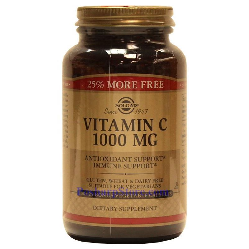 Picture for category Solgar Vitamin C 1000 mg 100 Vegetable Capsules
