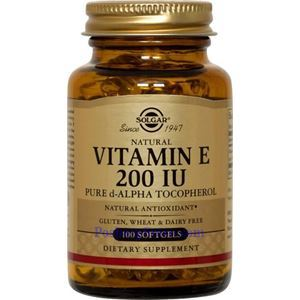 Picture of Solgar Vitamin E 200 IU Alpha 100 Softgels