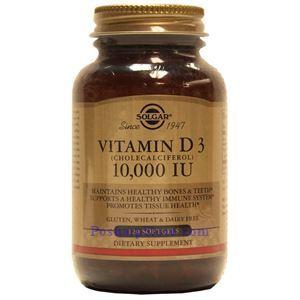 图片 Solgar牌维生素D3(胆钙化醇) 液体胶囊  10000单位 120粒