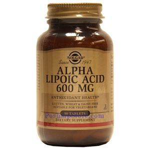Picture of Solgar Alpha Lipoic Acid 600 mg 50 Tablets