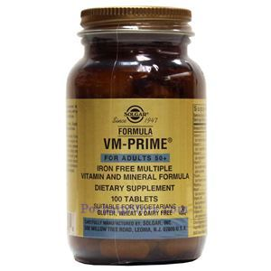 Picture of Solgar VM-Prime Iron Free Multiple Vitamin and Mineral Formula 100 Tablets