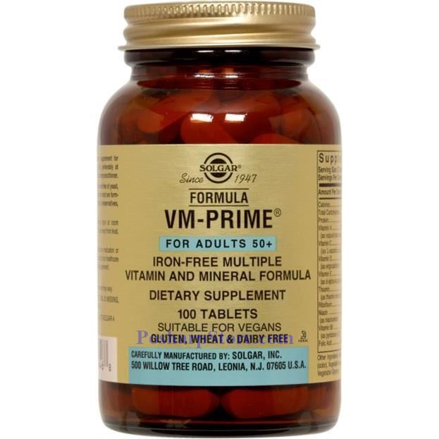 Picture for category Solgar VM-Prime Iron Free Multiple Vitamin and Mineral Formula 100 Tablets