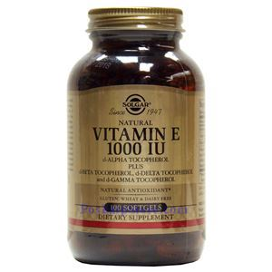 Picture of Solgar Vitamin E 1000 IU Mixed 100 Softgels