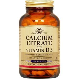 Picture of Solgar Calcium Citrate with Vitamin D3 120  Tablets