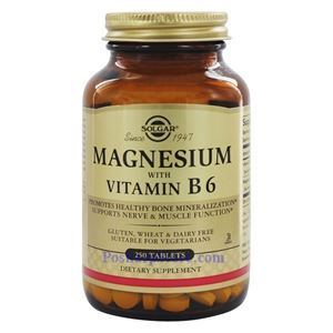 Picture of Solgar Magnesium with Vitamin B6  250 Tablets
