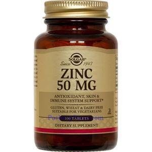 Picture of Solgar Zinc  50 mg, 100 Tablets
