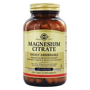 Picture of Solgar Magnesium Citrate 400 mg 120 Tablets