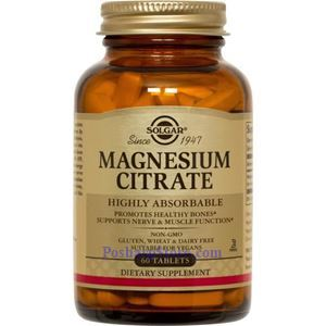 Picture of Solgar Magnesium Citrate 400 mg 60 Tablets