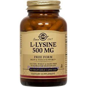 Picture of Solgar L-Lysine 500 mg 50 Vegetable Capsules
