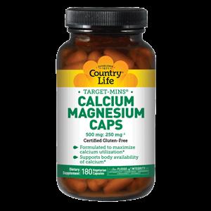 Picture of Country Life Target-Mins Calcium Magnesium Caps 180 Capsules
