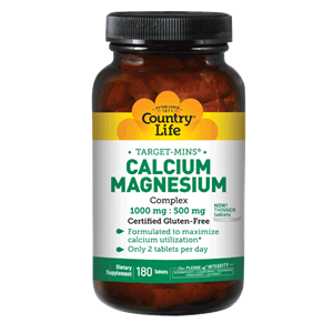 Picture of Country Life Target-Mins Calcium Magnesium Complex  180 Tablets
