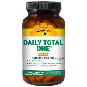 Picture of Country Life Daily Total One Iron Free 60 Veg Caps