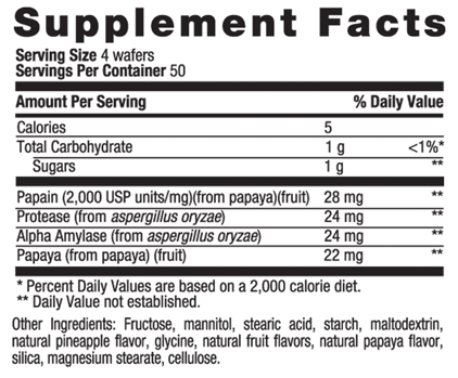 Picture for category Country Life Papaya Digestive Support 200 Wafers