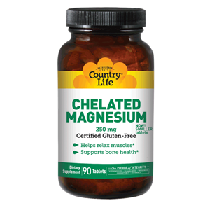 Picture of Country Life Chelated Magnesium 250 mg 90 Tablets