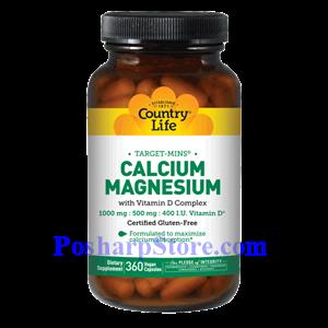 Picture of Country Life Calcium Magnesium with Vitamin D Complex 360 Vegetarian Capsules
