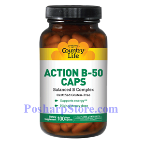 Picture of Country Life Action B-50 Caps 100 Capsules