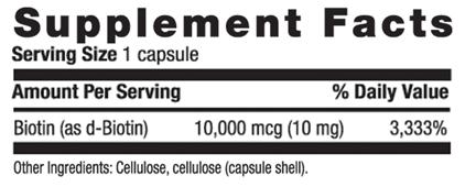 分类图片 Country Life牌生物素(维他命B7)素食胶囊 10毫克 120粒