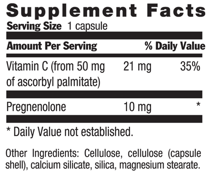 Picture for category Country Life Pregnenolone 10 mg 60 Vegetarian Capsules