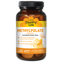 Picture of Country Life Methylfolate Orange 800 mcg 60 Smooth Melts