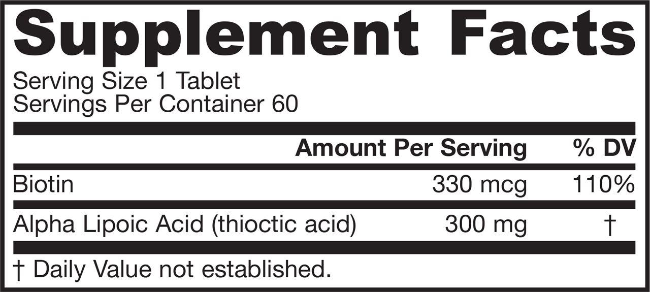 分类图片 Jarrow Formulas杰诺牌专利配方硫辛酸片 60粒