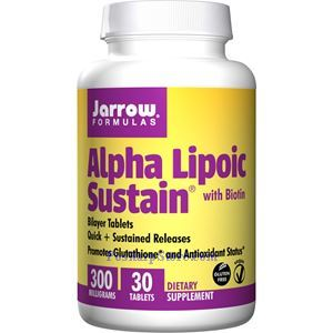 Picture of Jarrow Formulas Alpha Lipoic Sustain® with Biotin 300mg 30 Tablets