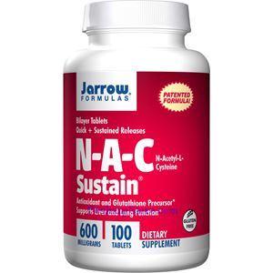 图片 Jarrow Formulas杰诺牌N-A-C半胱氨酸缓释片 600毫 100粒