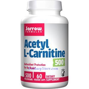 Picture of Jarrow Formulas Acetyl L-Carnitine  500 mg 60 Capsules