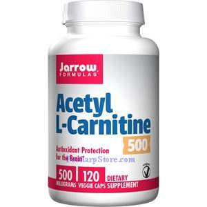 Picture of Jarrow Formulas Acetyl L-Carnitine  500 mg 120 Capsules
