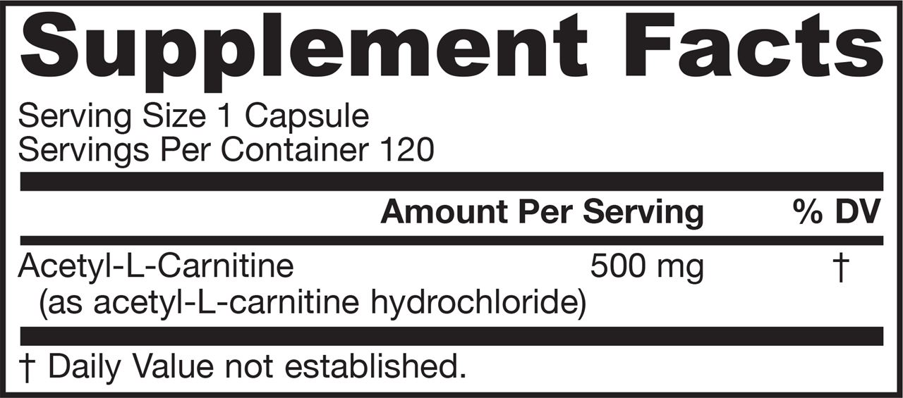 Picture for category Jarrow Formulas Acetyl L-Carnitine  500 mg 120 Capsules