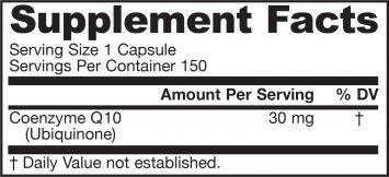 Picture for category Jarrow Formulas Co-Q10 30mg 150 Capsules