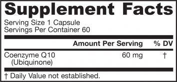 Picture for category Jarrow Formulas Co-Q10 60mg 60 Capsules