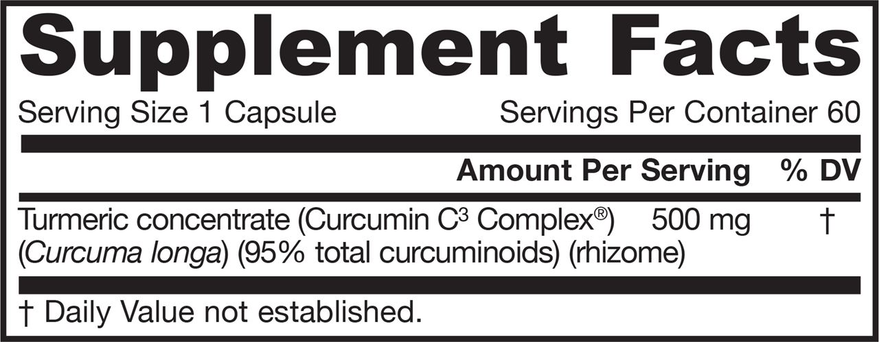 Picture for category Jarrow Formulas Curcumin 95 500mg 60 Veg Capsules