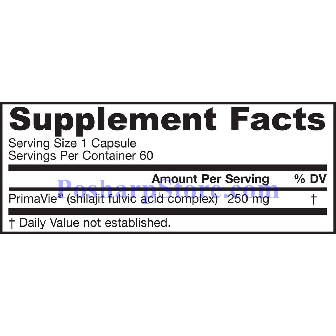 Picture for category Jarrow Formulas Shilajit Fulvic Acid Complex 250mg 60 Capsules