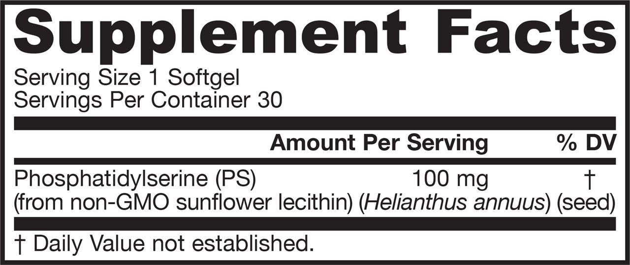 Picture for category Jarrow Formulas PS 100 (Phosphatidylserine) 100mg 30 Softgels