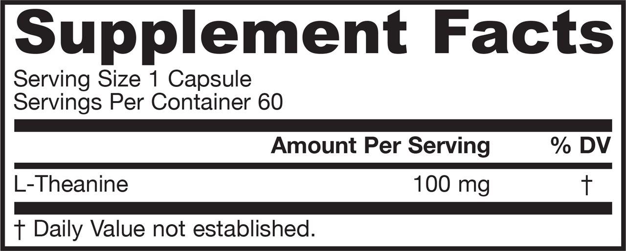 分类图片 Jarrow Formulas牌茶氨酸素食胶囊 100毫克 60粒